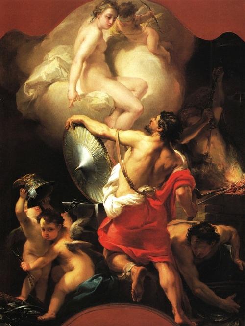 """Gaetano Gandolfi, """"Venus in the Forge of Vulcan"""" (c. 1770-75)"""
