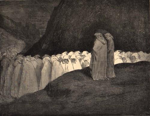 La bolgia degli ipocriti, Gustave Doré