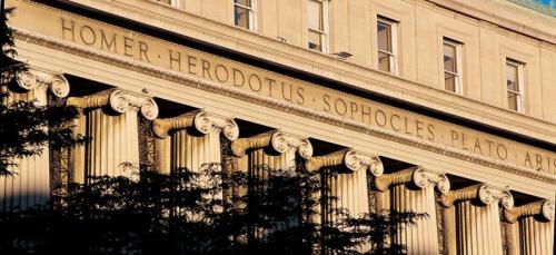 La facciata della biblioteca di Columbia University